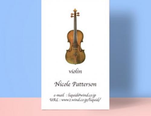 バイオリン名刺02 アンティークバイオリン