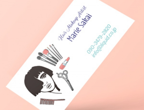 美容師名刺102 ヘアメイクアップアーティスト2