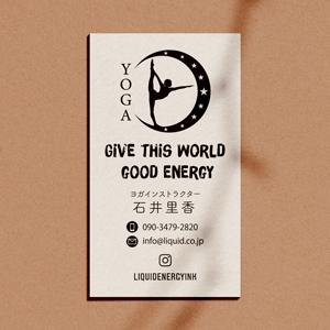 ヨガ名刺89ムーンヨガロゴ-300